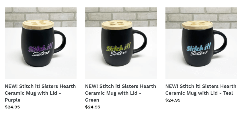 NEW! Stitch it! Sisters Hearth Ceramic Mugs with Lid at ShopNZP.com