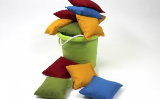 Sew Bean Bags for Cornhole Game with our Bags Sewing Tutorial at The Nancy Zieman Productions Blog