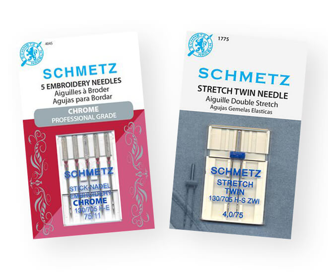 Schmetz Embroidery Needles and Double Needles Available at Nancy Zieman Productions