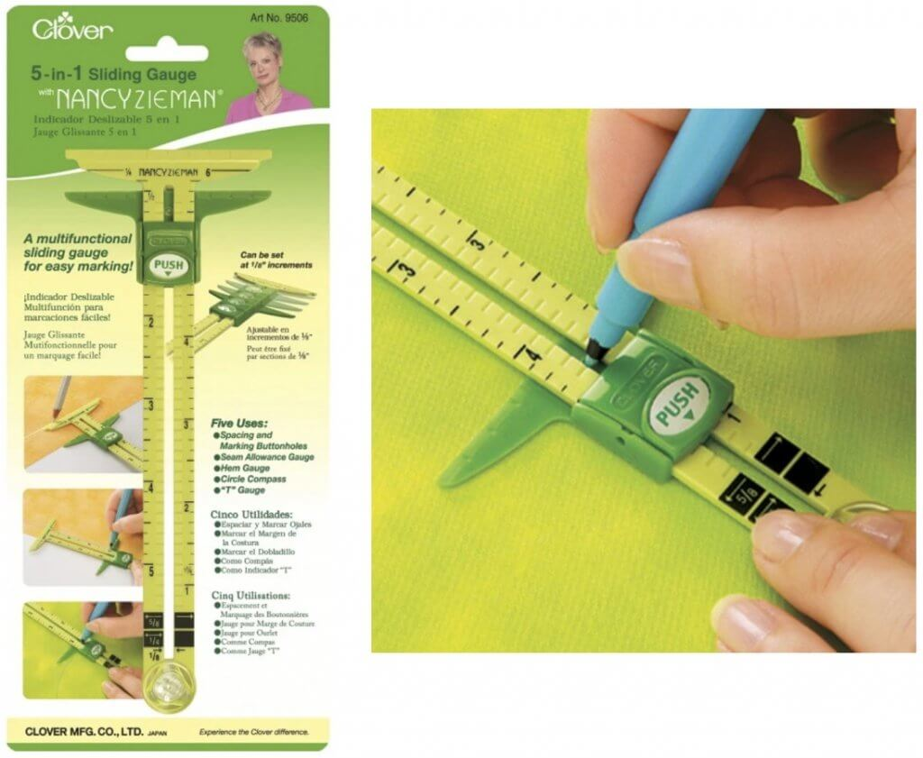 Clover's 5-in-1 Sliding Gauge Available at Nancy Zieman Productions at ShopNZP.com