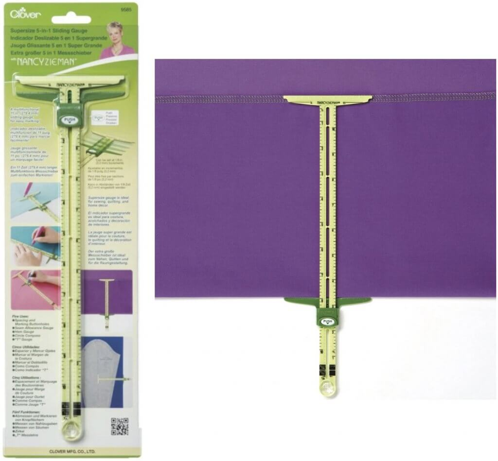 Clover's Supersize 5-in-1 Sliding Gauge Available at Nancy Zieman Productions at ShopNZP.com