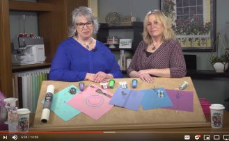 Decorative Stitches and Sewing Machine Presser Sewing Tutorial Video Stitch it! Sisters Program 214 by Nancy Zieman Productions