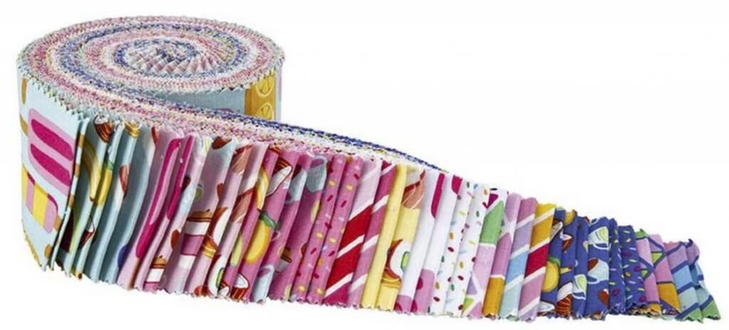"""NEW! Rainbowfruit 2-1:2"""" Fabric Strip Pack Available at Nancy Zieman Productions at ShopNZP.com"""