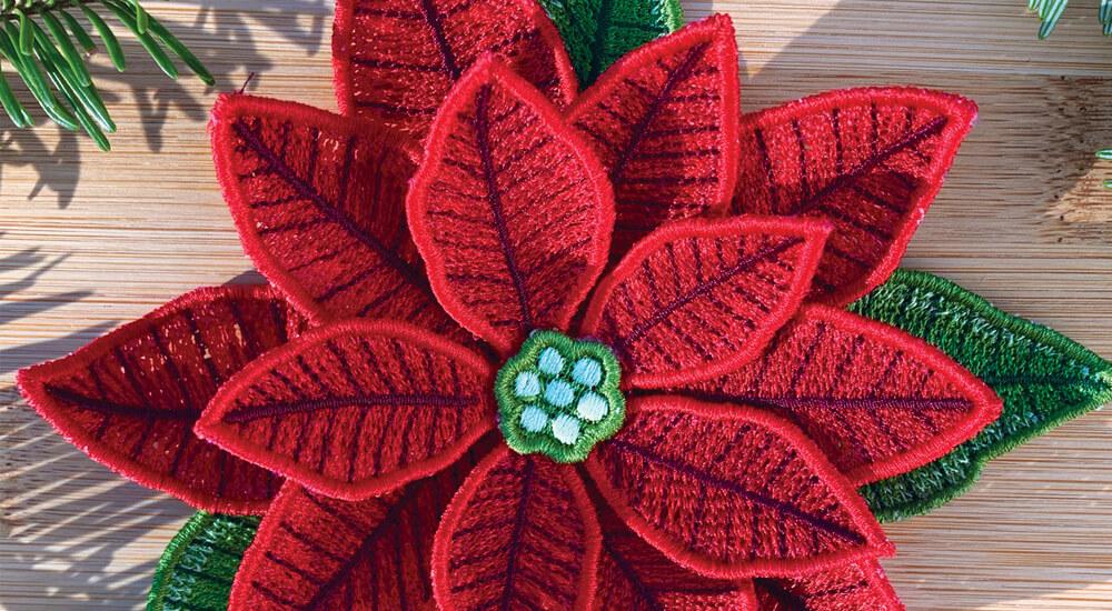 OESDs 12610 Freestanding Poinsettia at Nancy Zieman Productions at ShopNZP 1000 x 550