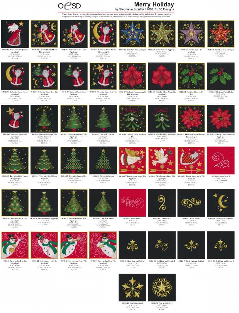 OESDs 80116 Merry Holiday by Stephanie Stouffer at Nancy Zieman Productions at ShopNZP 1
