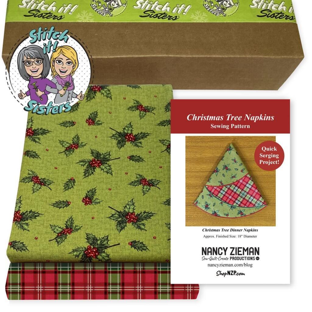 NEW! Christmas Tree Napkins Bundle Box Available at ShopNZP.com at Nancy Zieman Productions