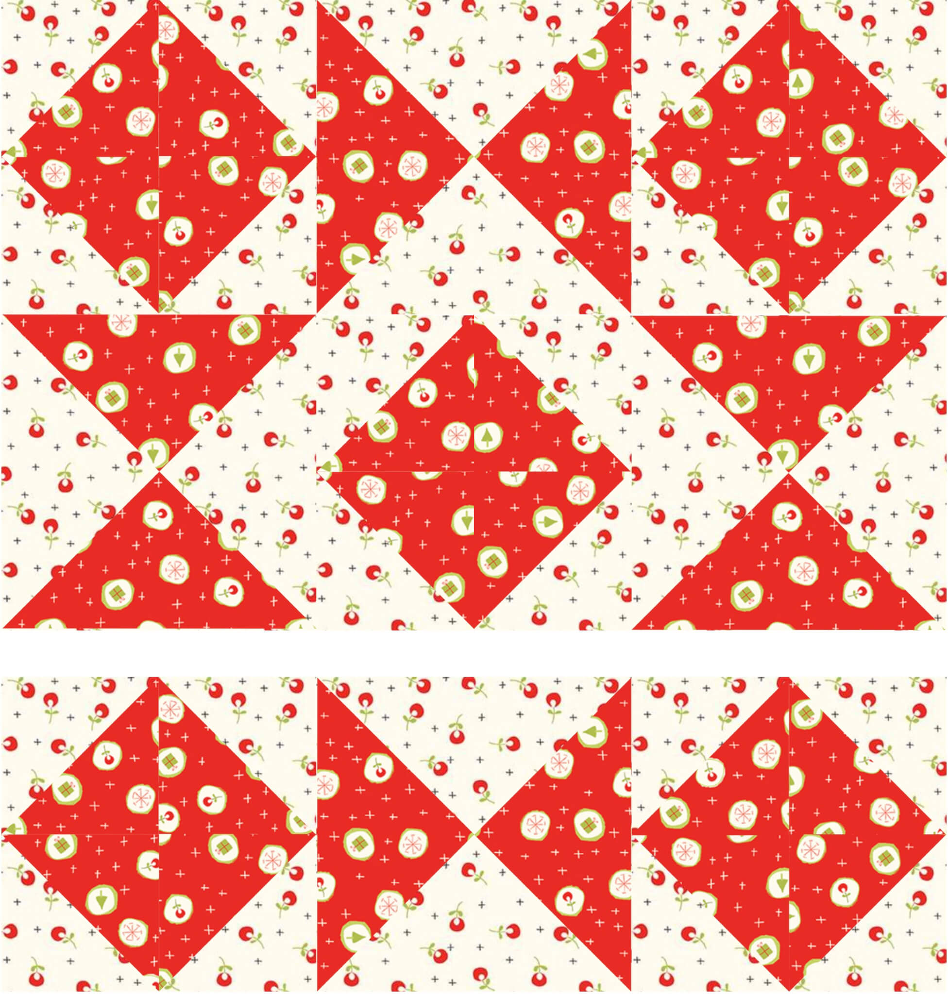 August 2021 NZP Block Of The Month Combination Star Quilt Block