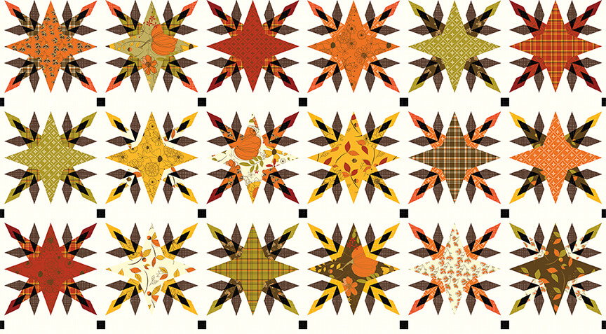 NEW! Give Thanks Star Block Fabric by the Yard