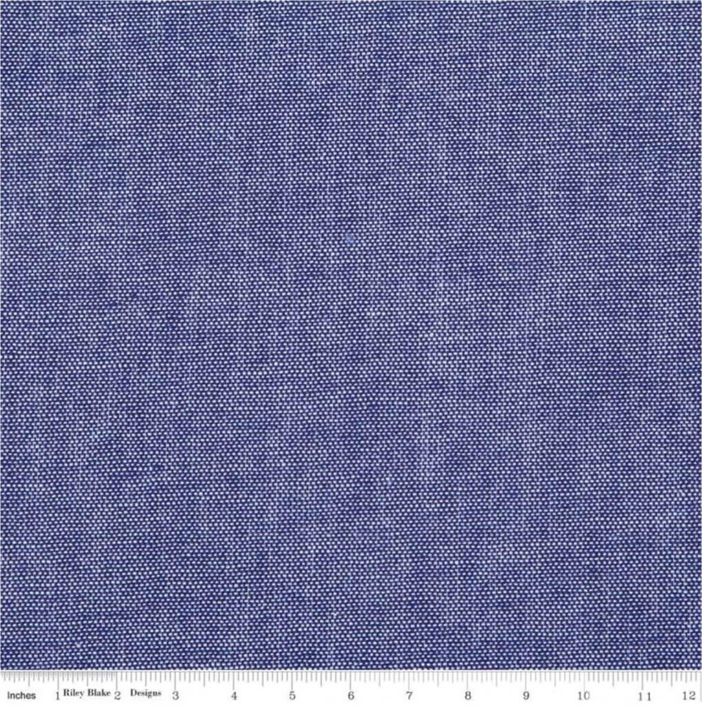Chambray Indigo Fabric Available at Nancy Zieman Productions at ShopNZP.com