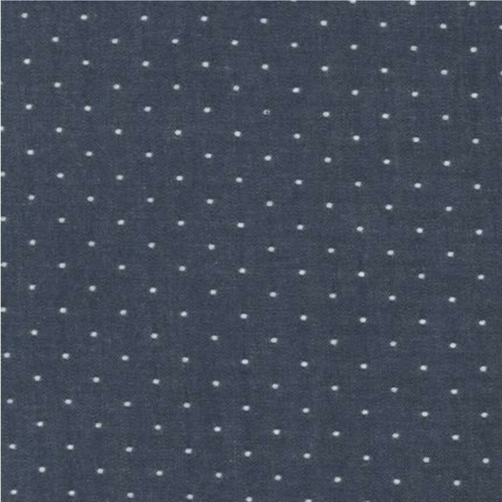 Cotton Chambray Dots-Indigo Fabric Available at Nancy Zieman Productions at ShopNZP.com