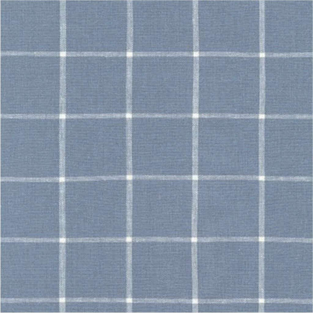 Essex Yarn Dyed Classic Wovens Chambray Reverse Window Pane Fabric Available at Nancy Zieman Productions at ShopNZP.com