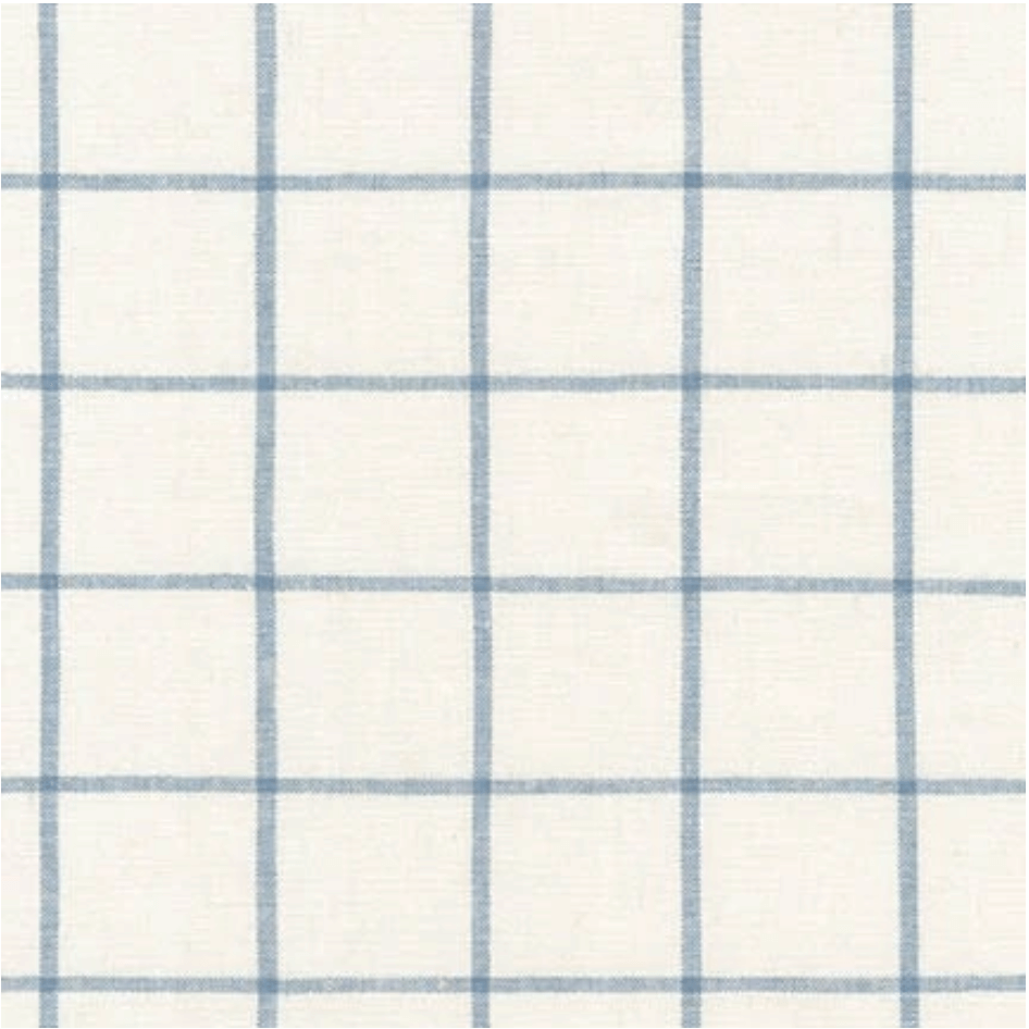 Essex Yarn Dyed Classic Wovens Sky Window Pane Fabric Available at Nancy Zieman Productions at ShopNZP.com