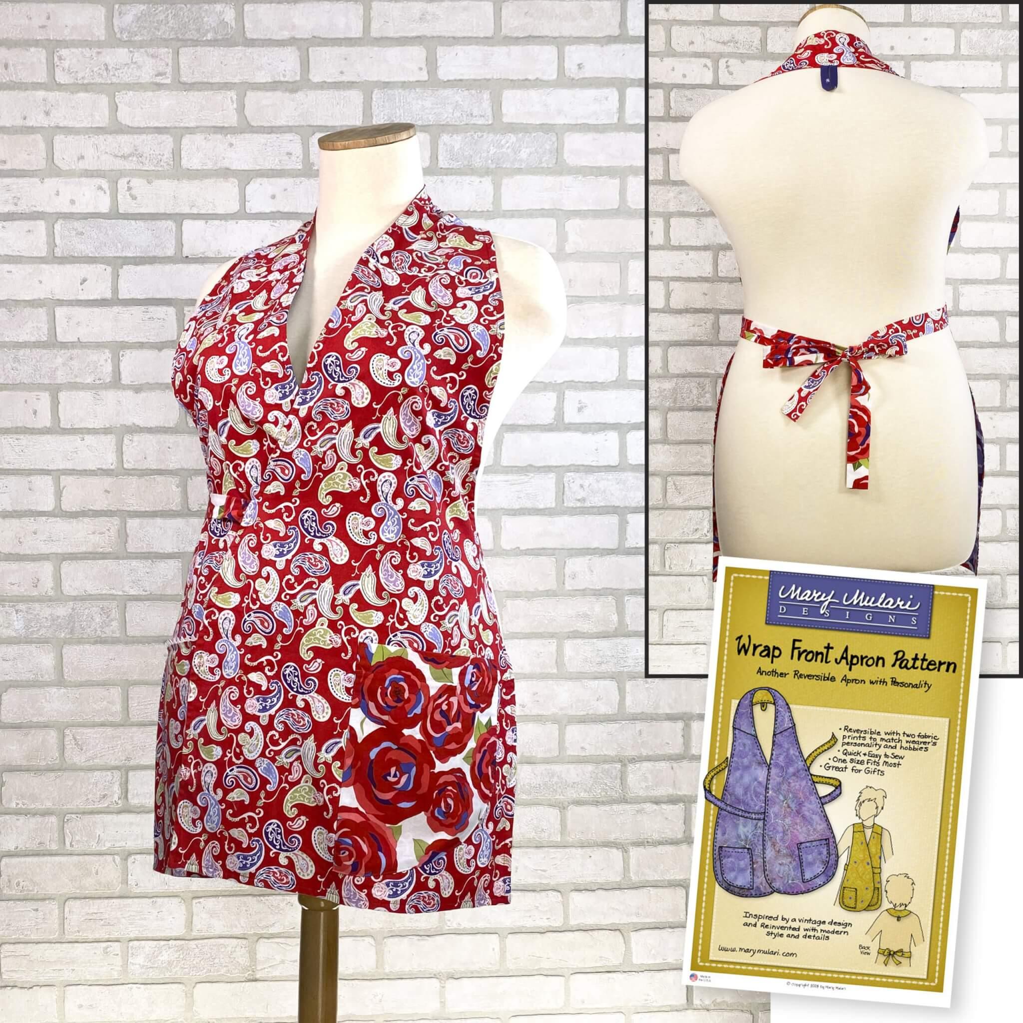 Mary Mulari's Wrap Front Apron Pattern Available at Nancy Zieman Productions at ShopNZP.com