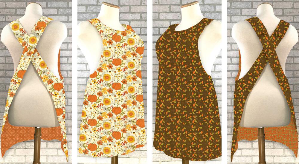 Mary Mulari Apron Sewing Patterns available at Nancy Zieman Productions at ShopNZP.com 1000 x 550