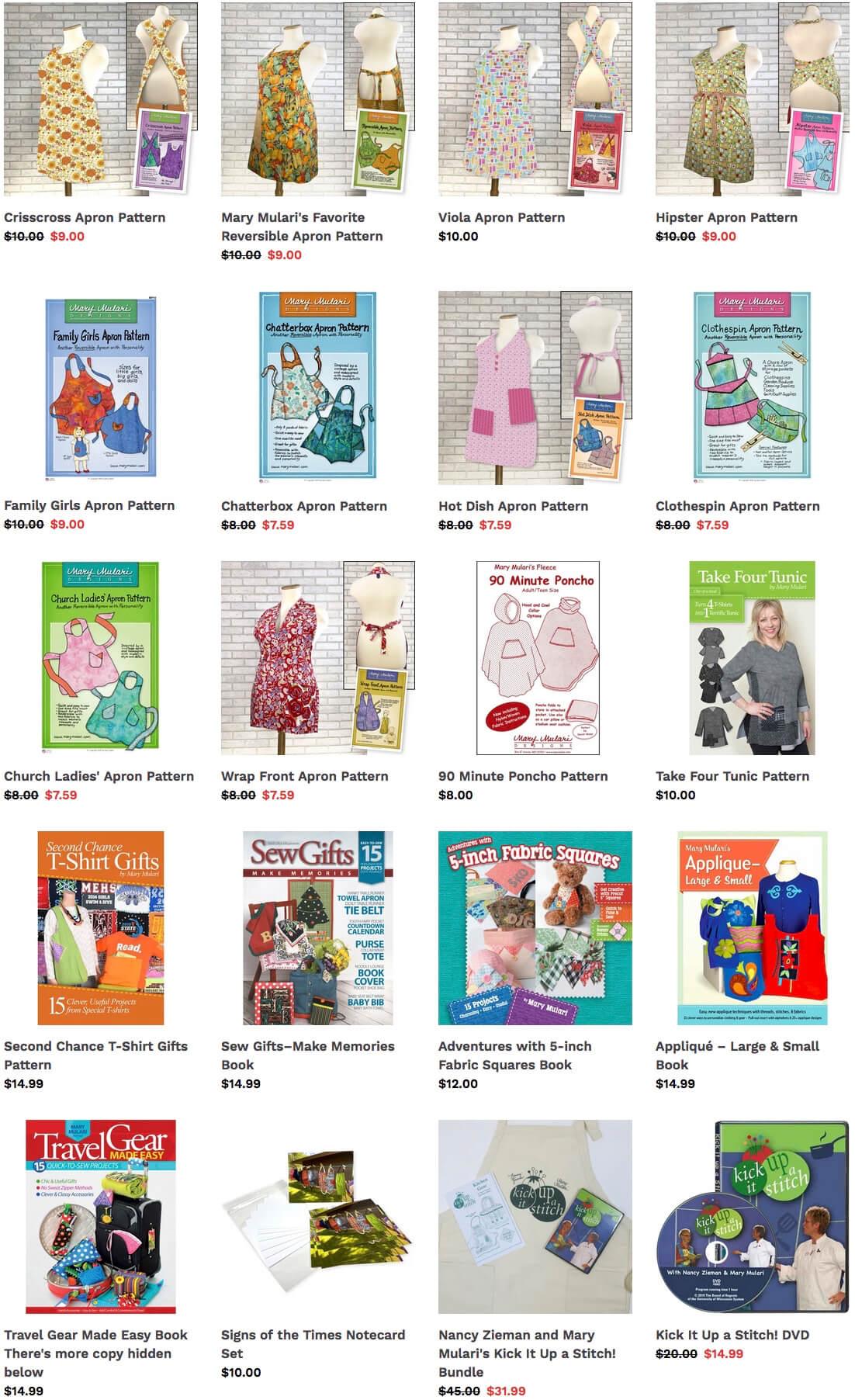 Mary Mulari Patterns Available at Nancy Zieman Productions at ShopNZP.com