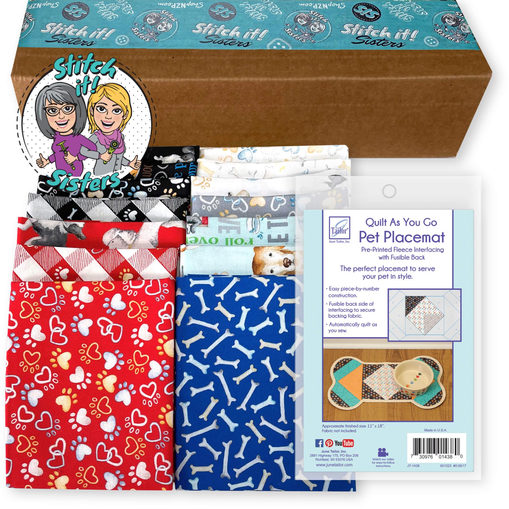Quilt As You Go Dog Pet Placemat Bundle Box available at Nancy Zieman Productions at ShopNZP.com