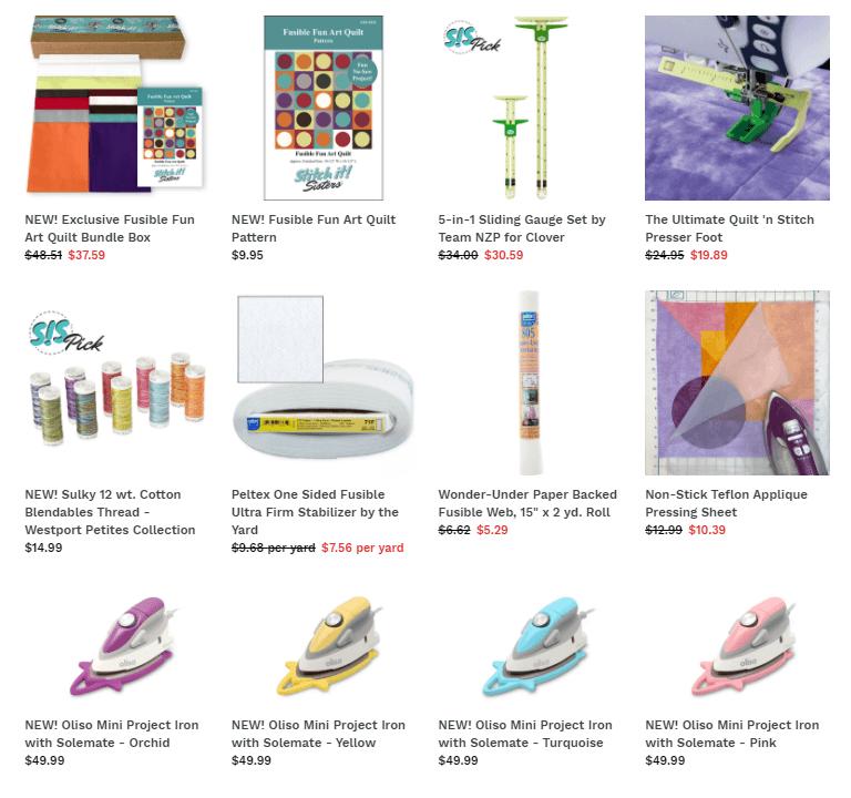 Exclusive Fusible Fun Art Quilt Bundle Box available at ShopNZP.com at Nancy Zieman Productions