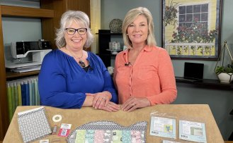 Stitch it! Sisters NEW Quilt As You Go Pet Placemats Tutorial by the Stitch it! Sisters with guest Jill Repp from June Tailor at Nancy Zieman Productions