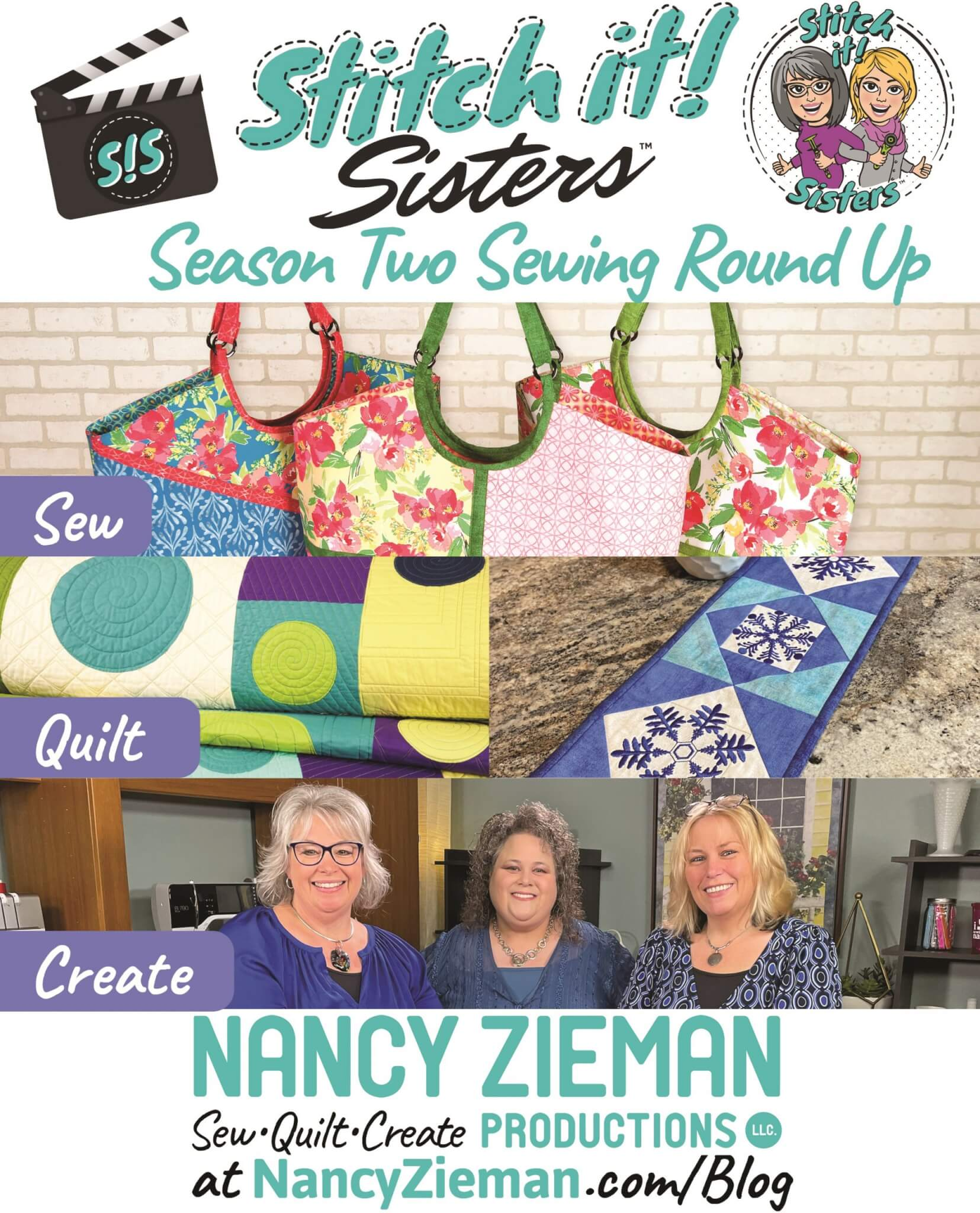 Stitch it! Sisters Season Two Round Up at The Nancy Zieman Productions Blog