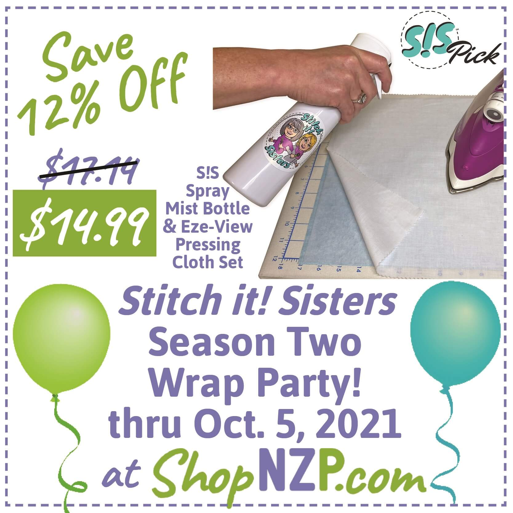 Stitch it Sisters Season Two Wrap Party! thru Oct. 5, 2021 at Nancy Zieman Productions at ShopNZP.jpg