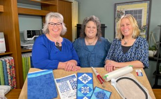Stitch it! Sisters Season Two with hosts Deanna Springer, Denise Abel, and Dana Casey at Nancy Zieman Productions