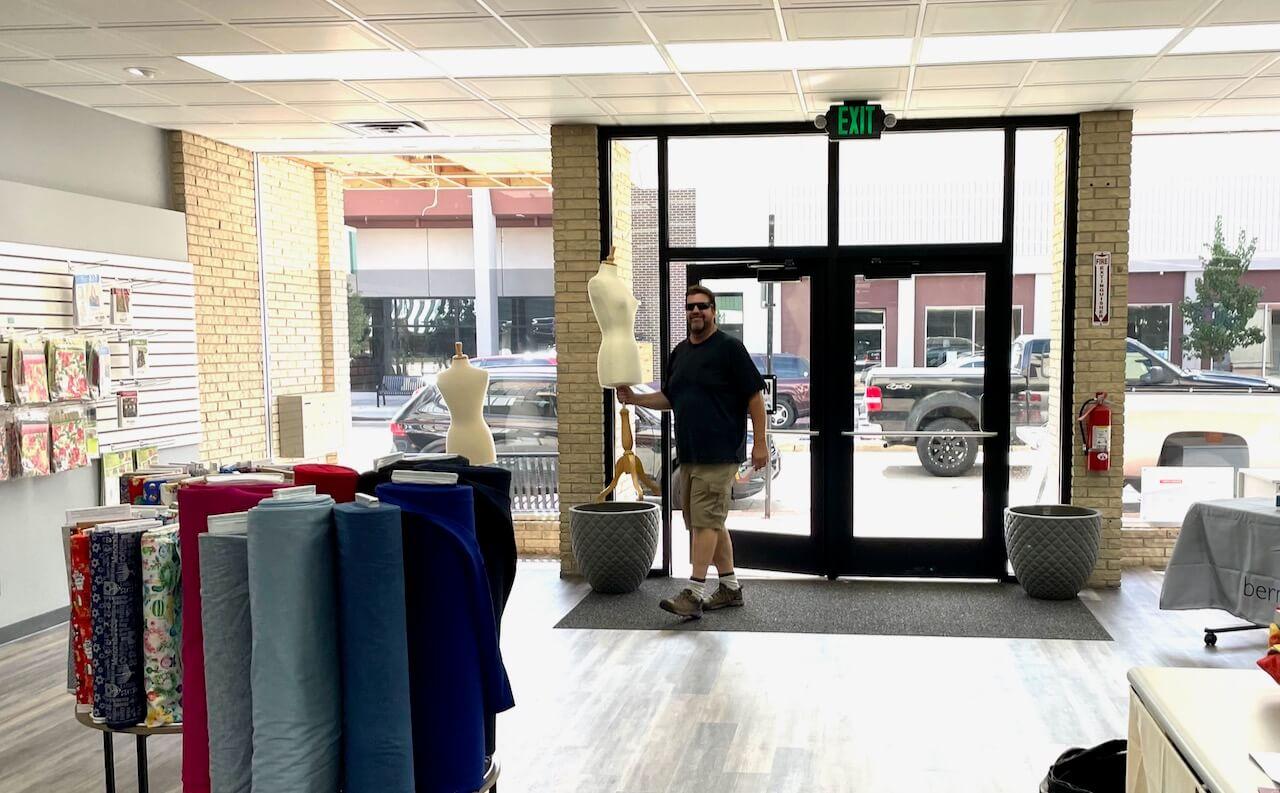 Deanna's Husband Dennis Delivers Mannikins to The New Nancy Zieman Sewing Studio IMG_2292