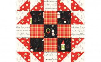 October 2021 NZP Block of the Month: English Wedding Ring Quilt Block