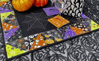 NEW! Sew A Celebration Halloween Half-Square Triangles Table Runner Sewing Tutorial